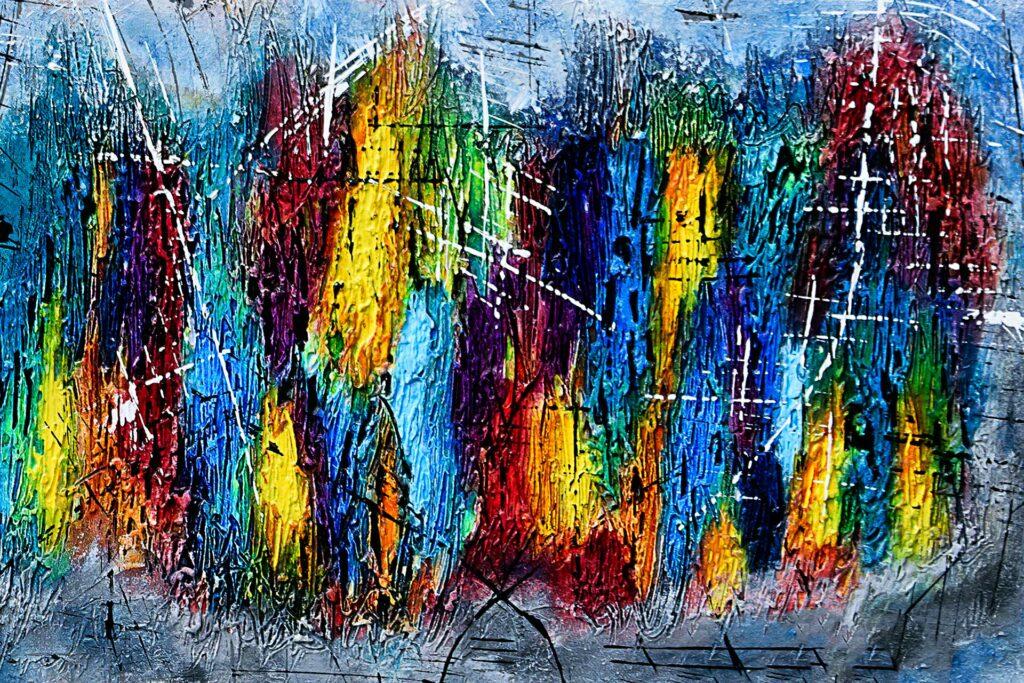 Abstrakt kunst til væggen